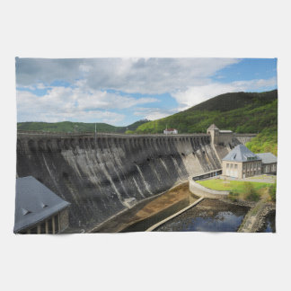 Edersee concrete dam with closed forest-hits a kitchen towel