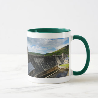 Edersee concrete dam with closed forest-hits a mug