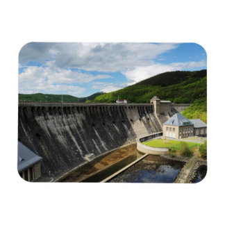 Edersee concrete dam with closed forest-hits a rectangular photo magnet