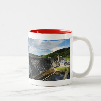 Edersee concrete dam with closed forest-hits a Two-Tone coffee mug