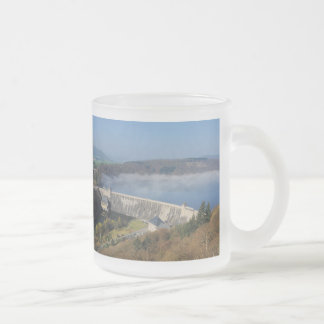 Edersee concrete dam with fog frosted glass coffee mug