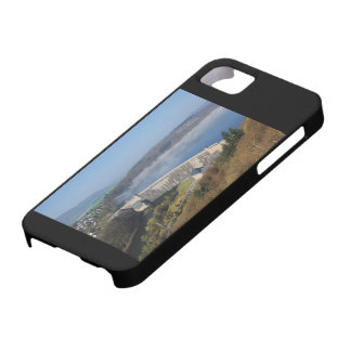 Edersee concrete dam with fog iPhone 5 case