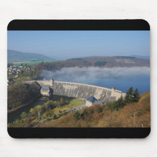 Edersee concrete dam with fog mouse pad