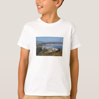 Edersee concrete dam with fog T-Shirt