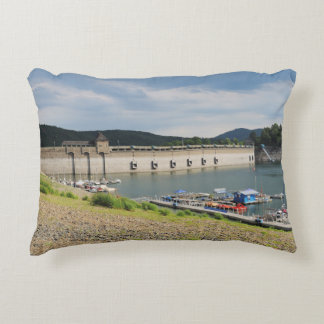 Edersee concrete dam with low water accent pillow