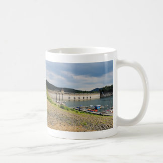 Edersee concrete dam with low water coffee mug