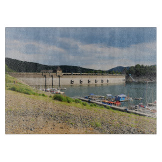 Edersee concrete dam with low water cutting board