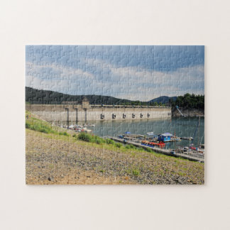 Edersee concrete dam with low water jigsaw puzzle