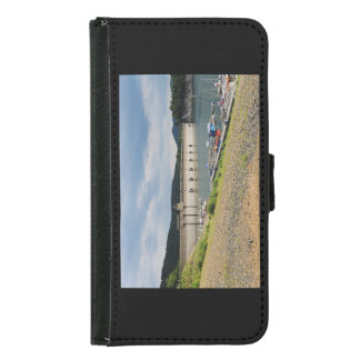 Edersee concrete dam with low water samsung galaxy s5 wallet case