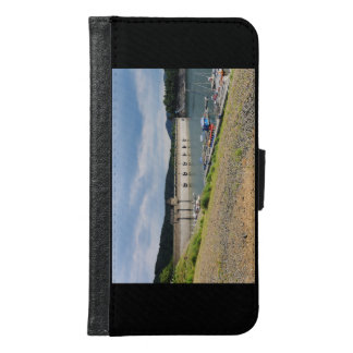 Edersee concrete dam with low water samsung galaxy s6 wallet case