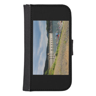 Edersee concrete dam with low water samsung s4 wallet case