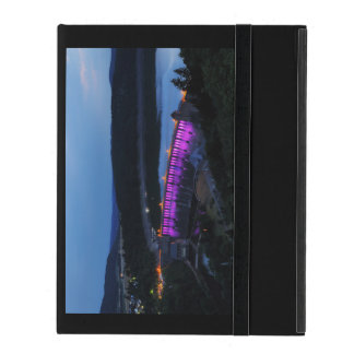 Edersee lit up concrete dam in the evening iPad folio case