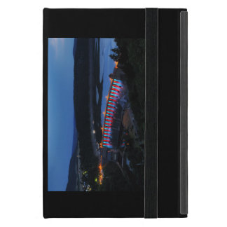 Edersee lit up concrete dam in the evening iPad mini cover
