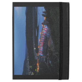 """Edersee lit up concrete dam in the evening iPad pro 12.9"""" case"""