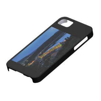 Edersee lit up concrete dam in the evening iPhone 5 case