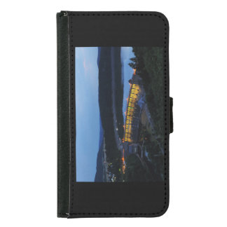 Edersee lit up concrete dam in the evening samsung galaxy s5 wallet case
