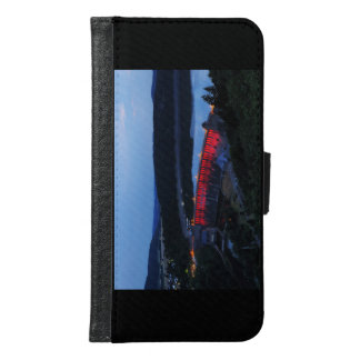 Edersee lit up concrete dam in the evening samsung galaxy s6 wallet case
