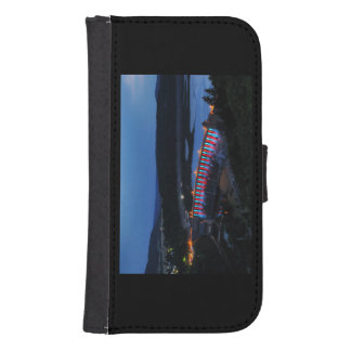 Edersee lit up concrete dam in the evening samsung s4 wallet case