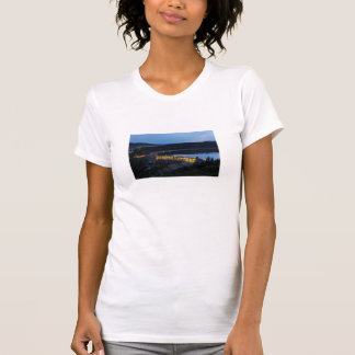Edersee lit up concrete dam in the evening T-Shirt