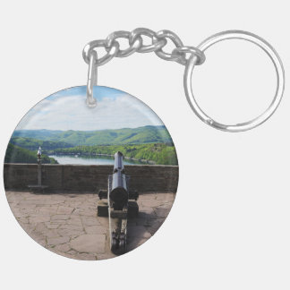 Edersee prospect of closed forest-hits a corner Double-Sided round acrylic keychain