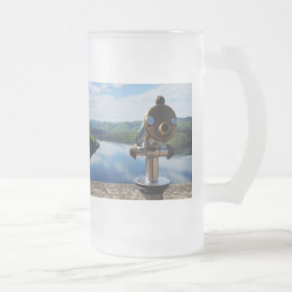 Edersee prospect of closed forest-hits a corner frosted glass beer mug
