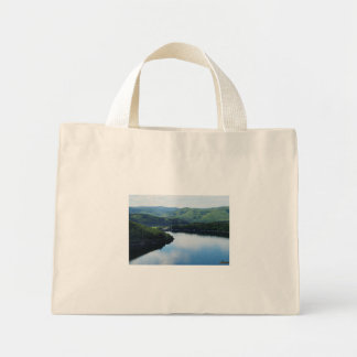 Edersee prospect of closed forest-hits a corner mini tote bag