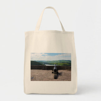 Edersee prospect of closed forest-hits a corner tote bag