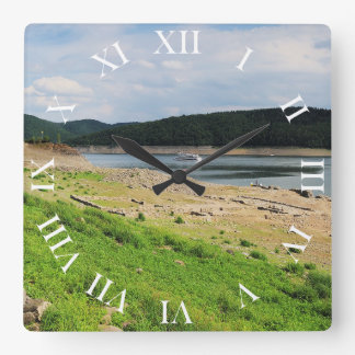 Edersee village place of Berich Square Wall Clock