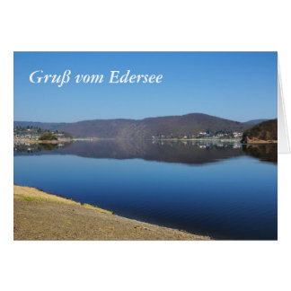 Edersee when bringing living card