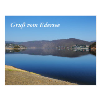 Edersee when bringing living postcard