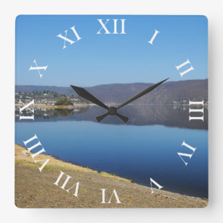 Edersee when bringing living square wall clock