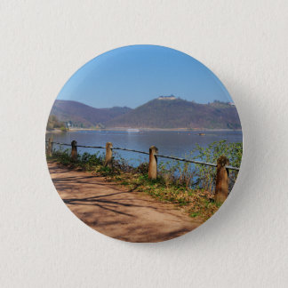 Edersee with lock forest-hit a corner 2 inch round button