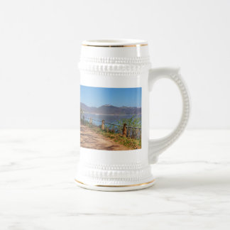 Edersee with lock forest-hit a corner beer stein