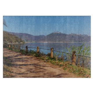 Edersee with lock forest-hit a corner cutting board