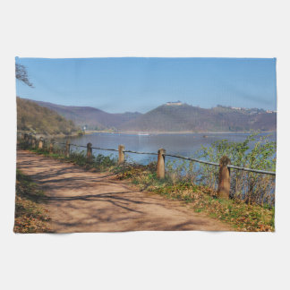 Edersee with lock forest-hit a corner kitchen towel