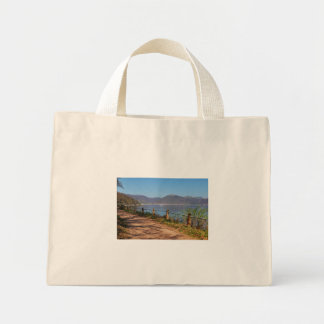 Edersee with lock forest-hit a corner mini tote bag
