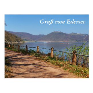 Edersee with lock forest-hit a corner postcard