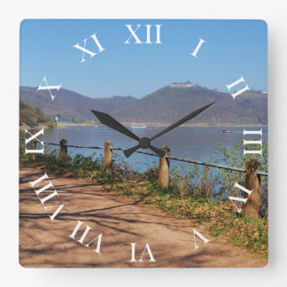 Edersee with lock forest-hit a corner square wall clock