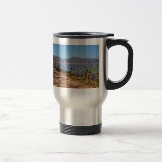 Edersee with lock forest-hit a corner travel mug