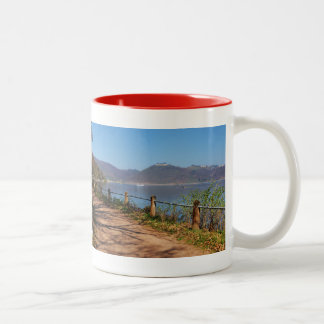 Edersee with lock forest-hit a corner Two-Tone coffee mug