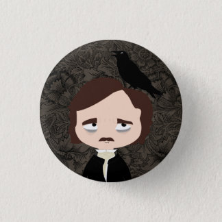 Edgar Allan Poe 1 Inch Round Button