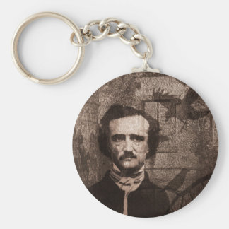 Edgar Allan Poe Basic Round Button Keychain