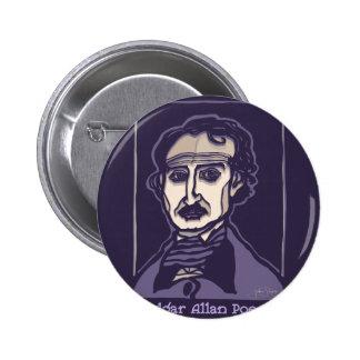 Edgar Allan Poe by FacePrints 2 Inch Round Button