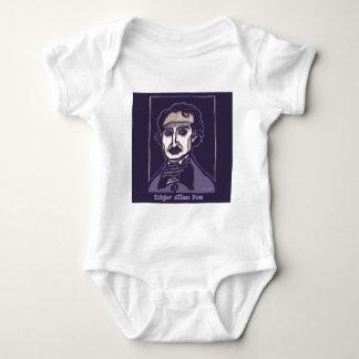 Edgar Allan Poe by FacePrints Baby Bodysuit
