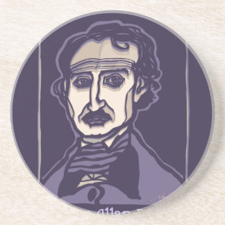 Edgar Allan Poe by FacePrints Beverage Coasters