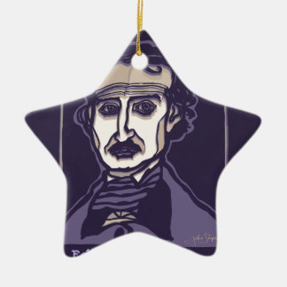 Edgar Allan Poe by FacePrints Ceramic Ornament
