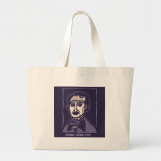 Edgar Allan Poe by FacePrints Large Tote Bag
