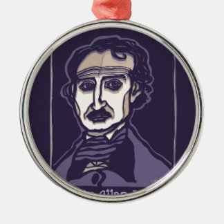 Edgar Allan Poe by FacePrints Metal Ornament