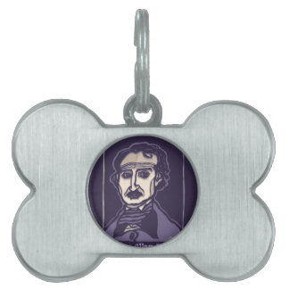 Edgar Allan Poe by FacePrints Pet Name Tag