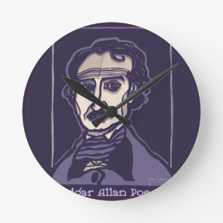 Edgar Allan Poe by FacePrints Round Clock